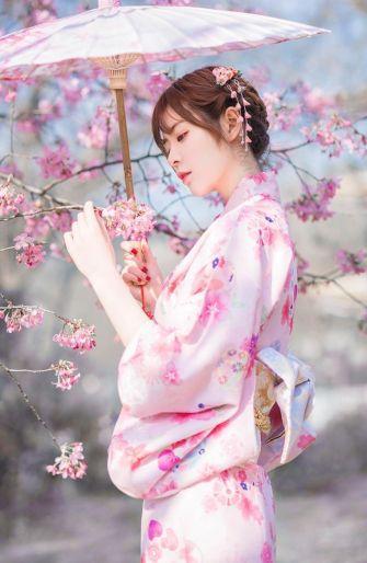 纯日系唯美女生樱花唯美图片